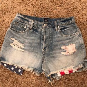 Gap High Waisted Denim Shorts